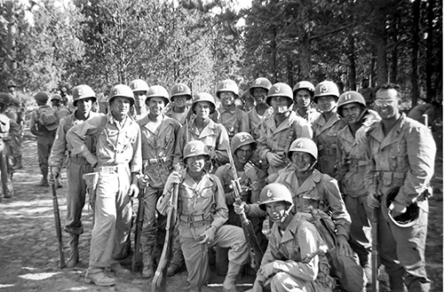 Camp Abbot Soldiers